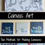 DIY Canvas Art: Technique 1