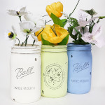 How to Paint and Distress Mason Jars Using DIY Chalk Paint