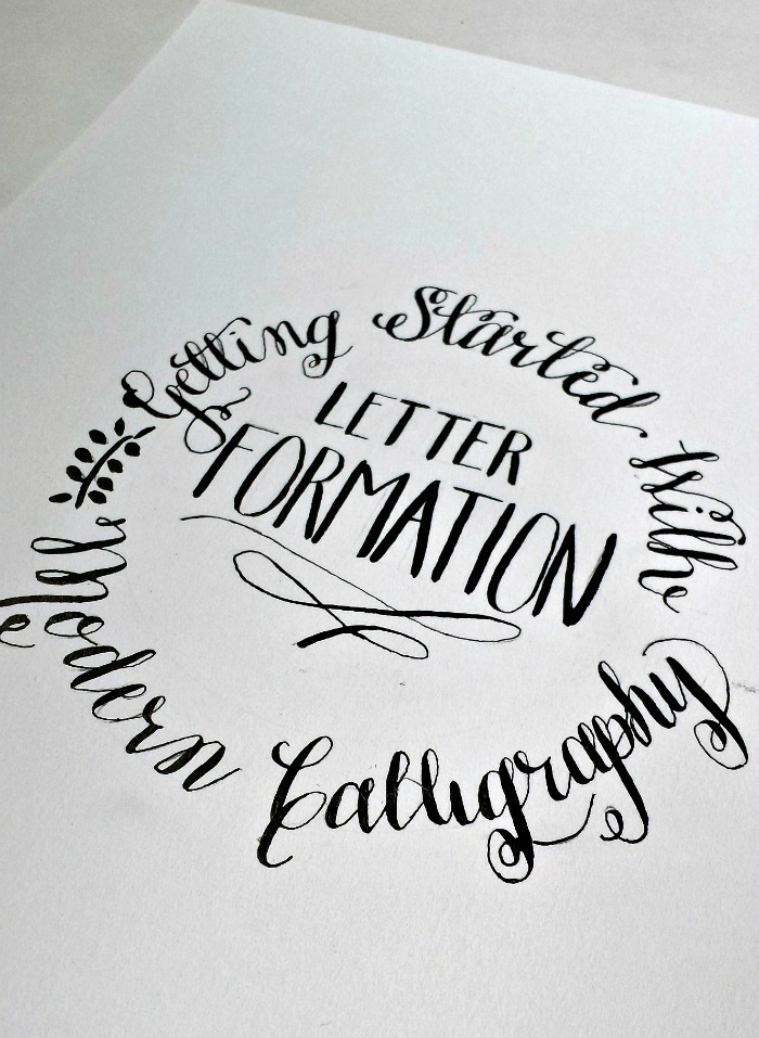 Getting started with modern calligraphy letter formation