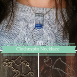 How to Make a Clothespin Necklace