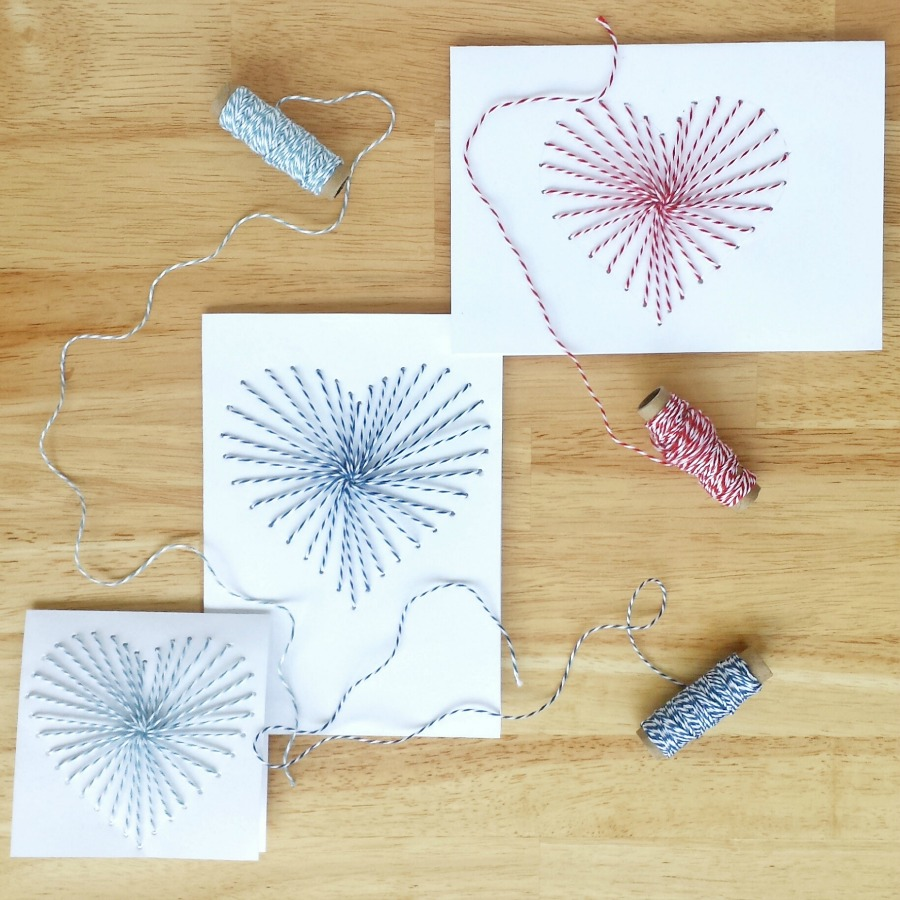 hand sewn greeting cards with baker 39 s twine