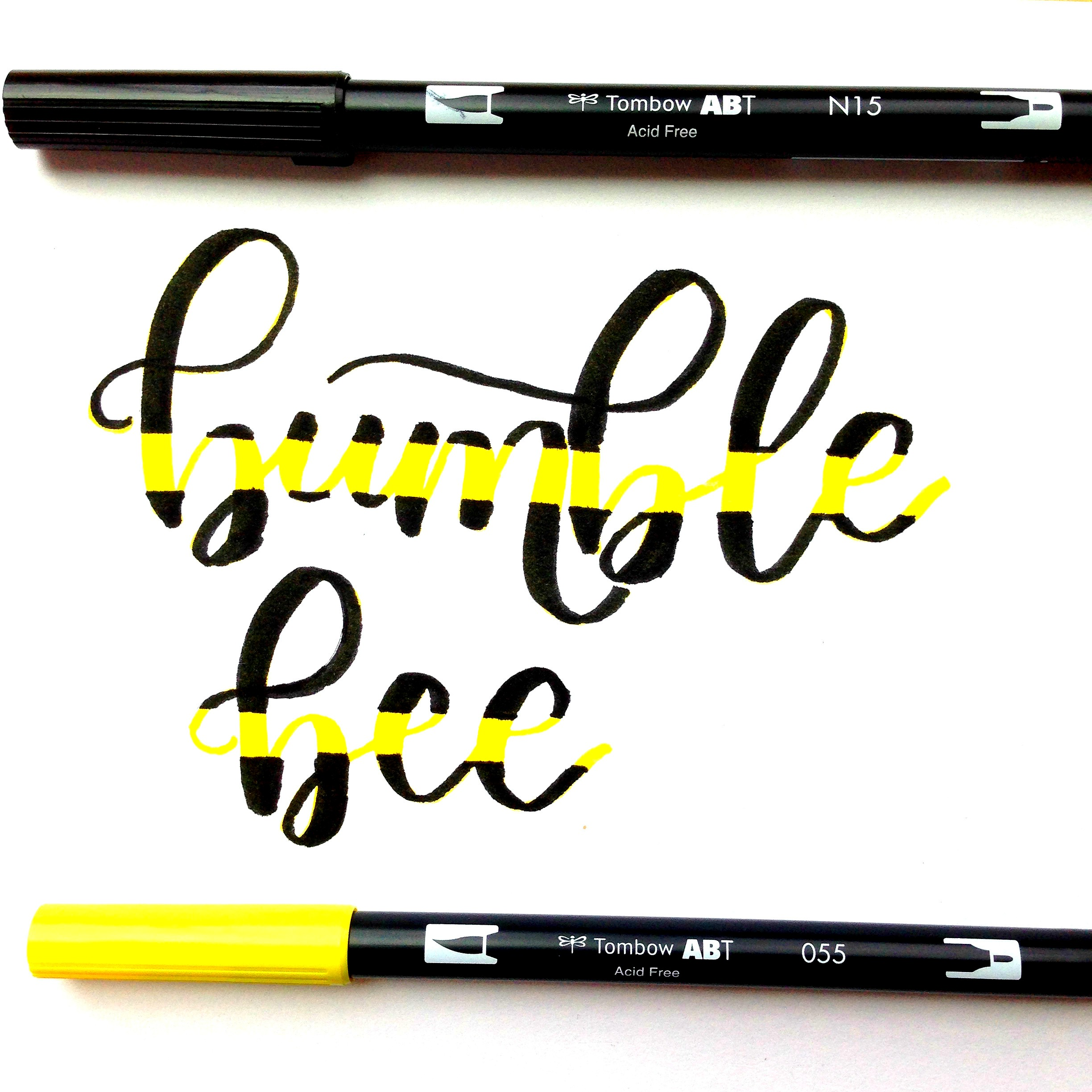 how to create striped brush lettering