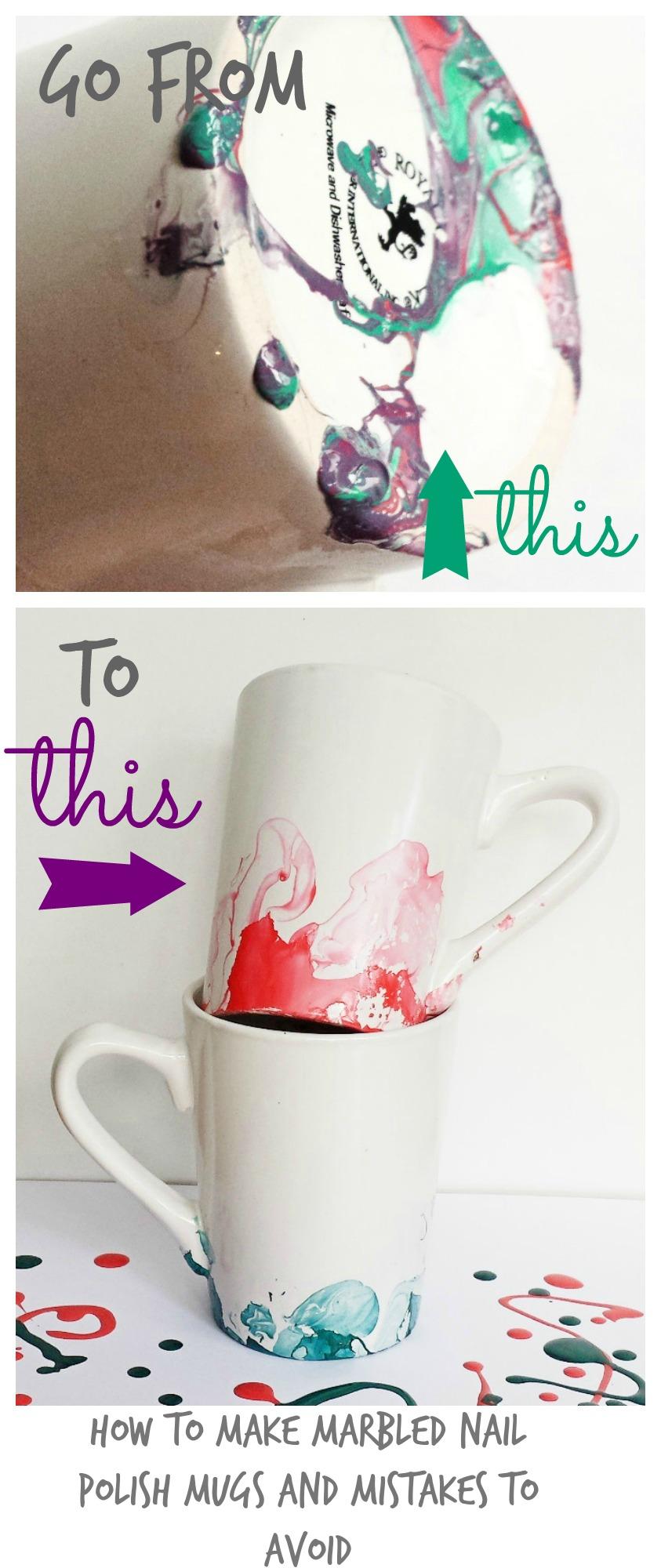 Marbled Nail Polish Mugs 6 Things I Wish I Had Known Before Making Them